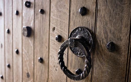 Wooden Door And Knocker