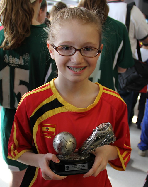 Emma with her Top Scorer trophy