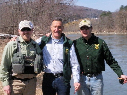 The Governot of VT goes fishing