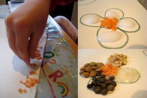 art using lentils