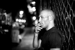 (godersi la zaga in strada) enjoying a cig on the street (Fabio McCaree) Tags: street portrait 12 nikkor 50 maku d700 sb900 drmaku