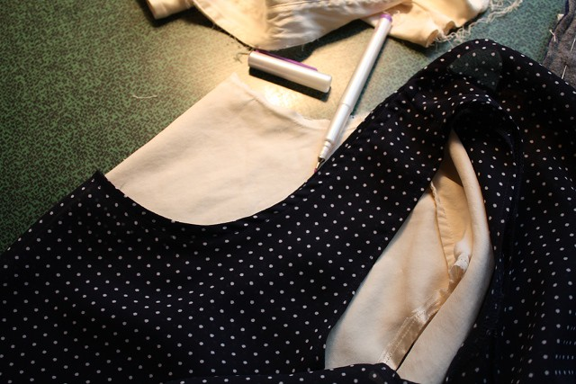 Want to refashion a silk shirt from the thrift store? This tutorial doesn't even require a sewing machine!