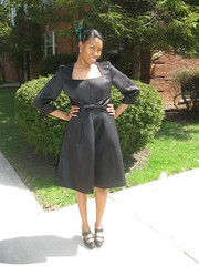 S2248 Front Hips Outside (The Mahogany Stylist) Tags: dress sewing simplicity hautecoutureclub fashionshow2011
