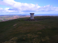 The summit of Falkland Hill in Fife, Scotland