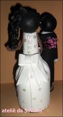 Fofuchos noivos costas (Ateliê da Silvana) Tags: eva casamento noivos fofucha