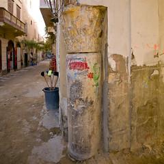 Old roman column in Tripoli median - Libya (Eric Lafforgue) Tags: libya libia libye libyen lbia libi libiya  ribia liviya libija       lbija  lby  libja lbya liiba livi  a0012257