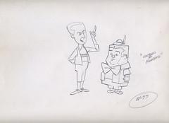 Hanna Barbera ABBOTT & COSTELLO Animation Drawing 1967 (Nemo Academy) Tags: original barbera drawinghanna
