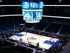 View from our playoff seats (msnguy81) Tags: orlando florida arena nba amway orlandomagic centralflorida orlandoflorida nbaplayoffs nbabasketball amwaycenter