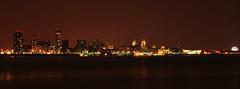 Liverpool waterfront (Danpug) Tags: city longexposure skyline night liverpool scape cunard merseyside rivermersey echoarena