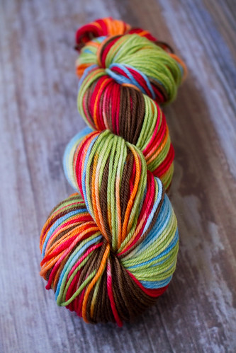 'rustic rainbow' Willow SW Merino 4.5oz