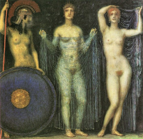 The three Goddesses Athena, Hera and Aphrodite by Franz von Stuck