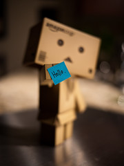 04.22.2011 (greenplasticamy) Tags: hello blue project lumix amazon day notes postit mini daily panasonic note every cardboard micro photoaday 20mm 365 everyday postitnotes 43 postitnote danbo amazoncojp gf1 mft project365 365days revoltech danboard micro43 microfourthirds minidanboard minidanbo dmcgf1
