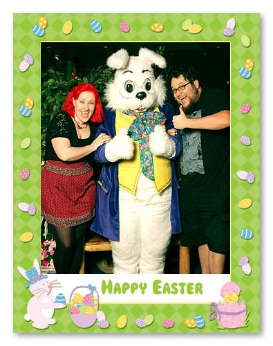 We met the Easter Bunny