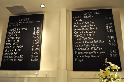 provisions wall menu