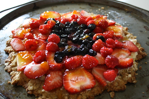 Berry Good Oatmeal Cookie Cake