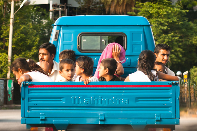 Truck riders in Bangalore