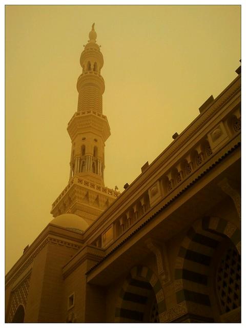 Masjid Nabawi Sewaktu Jerebu / Ribut Pasir