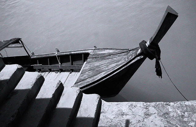 Longtail boat and Steps