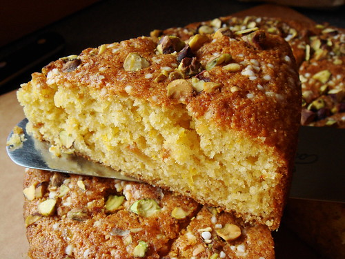 Pistachio & Marmalade Breakfast Cake