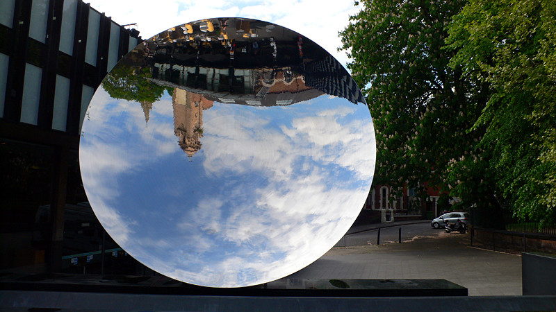 Sky Mirror by Anish Kapoor, Playhouse Theatre, Nottingham, UK