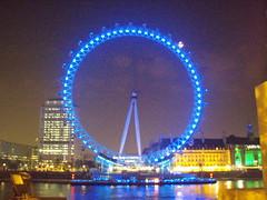View of the London Eye at Night (a3rynsun) Tags: blue london eye wheel night lights londoneye ferris nighttime