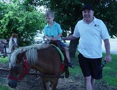 Max on horse - Grandpa walking with him (ellishackler) Tags: max ray ellis mark jim lori nancy maxwell hack deanna dee keerti hackler ellishackler