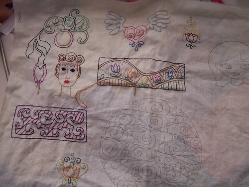 freestyle embroidery sampler progress 042911