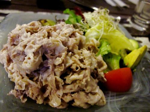 Pork shabushabu salad
