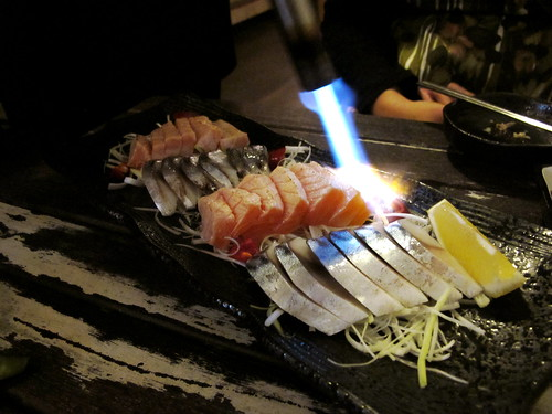 Grilled sashimi set