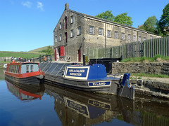 Standedge Visitor Centre (jrw080578) Tags: trees reflections boats canal yorkshire narrowboats huddersfieldnarrowcanal