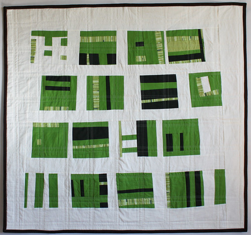 Yet another green and white quilt.