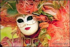 La Masquerade de Venise (♥ Damona-Art •.¸¸.•´¯`•.♥.•´¯`) Tags: venice portrait people orange woman colors playground photography costume spring eyes nikon raw mask belgium belgique modeling dream event fantasy masquerade venise enchanted d300 damona zauberwelt