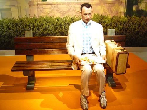 Tom Hanks/Forrest Gump figure at Madame Tussauds Hollywood