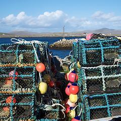 Berneray Harbour (Tom Willett) Tags: port scotland harbour float westernisles buoy hebrides lobsterpot outerhebrides berneray northuist buoyant