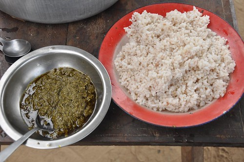 Rice and manioc leaves again