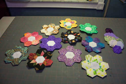 Grandmother's Flower Garden - Hexagons