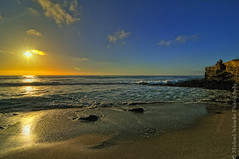 End of Day (Micha67) Tags: ocean california sunset sky cliff usa sun beach nature clouds michael spring sand nikon rocks waves pacific sandiego lajolla micha schaefer d300 ptf doublyniceshot