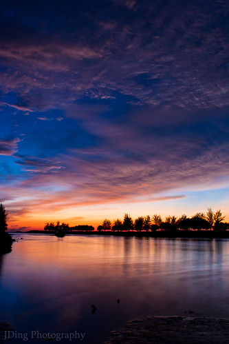 Sunset at Kuala Sungai Miri, Borneo by Joshua Aquinas Ding