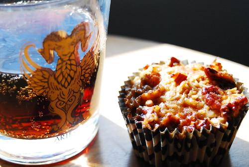 pepsi max and oatmeal cupcake