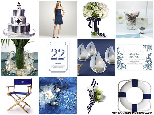 The clean classic look of a nautical wedding theme is ideal for couples who