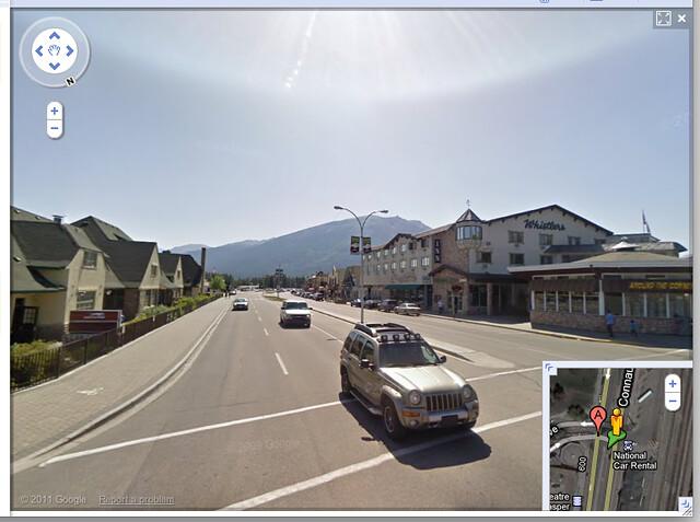 Google Maps - Street View - Jasper, Alberta, Canada