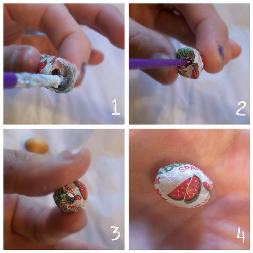 Making Candy Wrapper Beads
