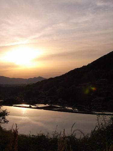 飛鳥の夕日(細川の棚田)-05