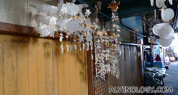 Wind chimes made of sea shells
