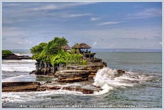 Tanah Lot Temple (Clearvisions) Tags: blue sea bali seascape water landscape temple asia waves village historic tanahlot clearvision ringexcellence clearvisionsphotography clearvisions