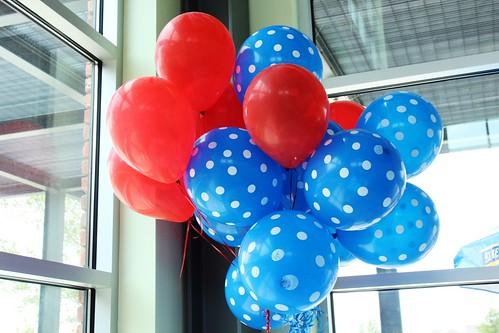 polkadotted balloons