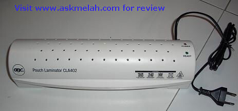 GBC Pouch Laminator CLA402 front view