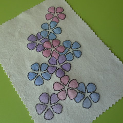 flowers embroidery pattern