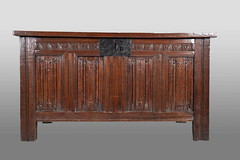 Tudor linenfold chest (Marhamchurch Antiques) Tags: chest tudor linenfold