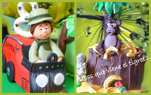 2Jungle cake- Tarta safari de Cayetano detalles